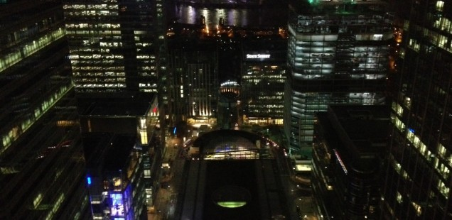 View from Level39 by night